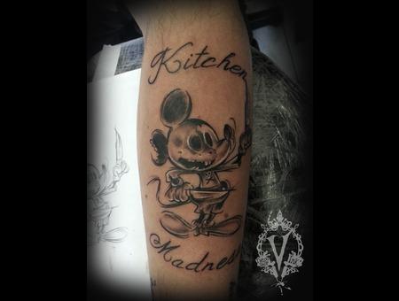 Mickey Mouse  Skull  Chef Forearm
