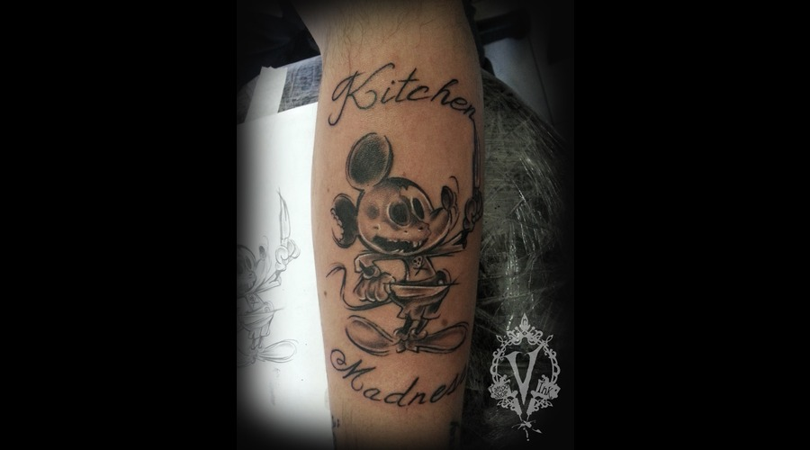 Mickey Mouse  Skull  Chef Forearm