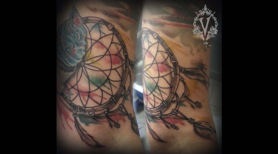 Dream Catcher Watercolor Arm