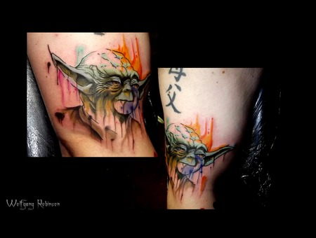 Yoda Star Wars Watercolor  Arm