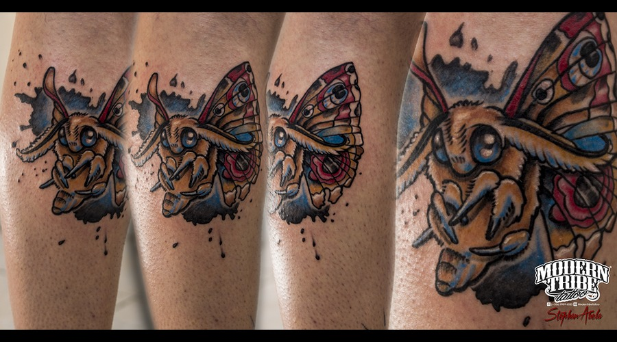 Neo Traditional Moth  Lower Leg