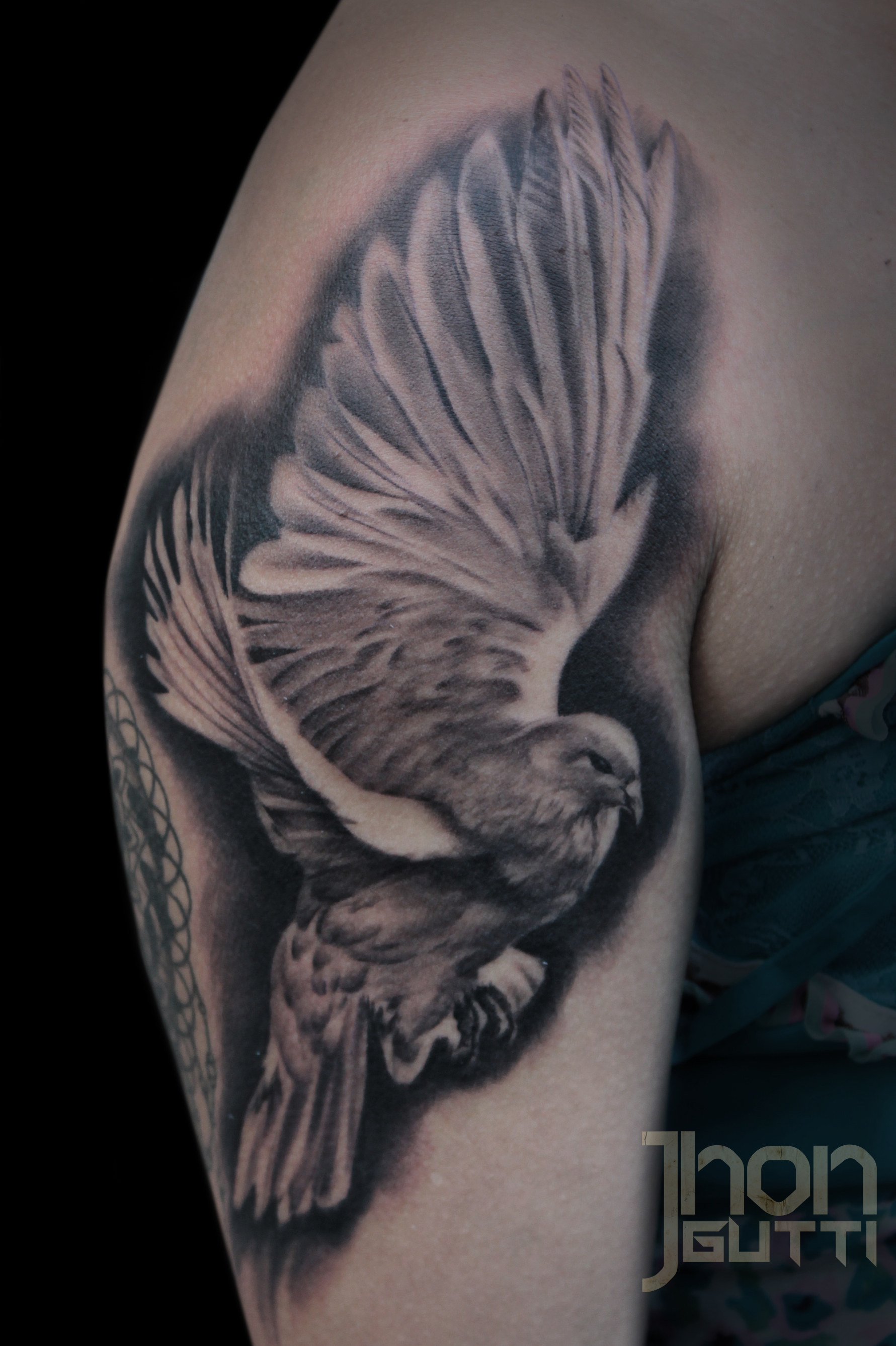Certified artist for Tattoo of doves