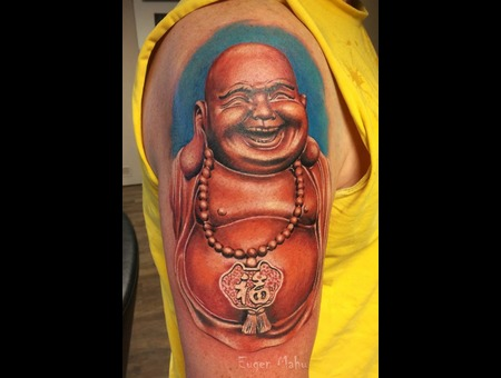 Buddha  Realistic  Realism  Art  Tattoo Arm