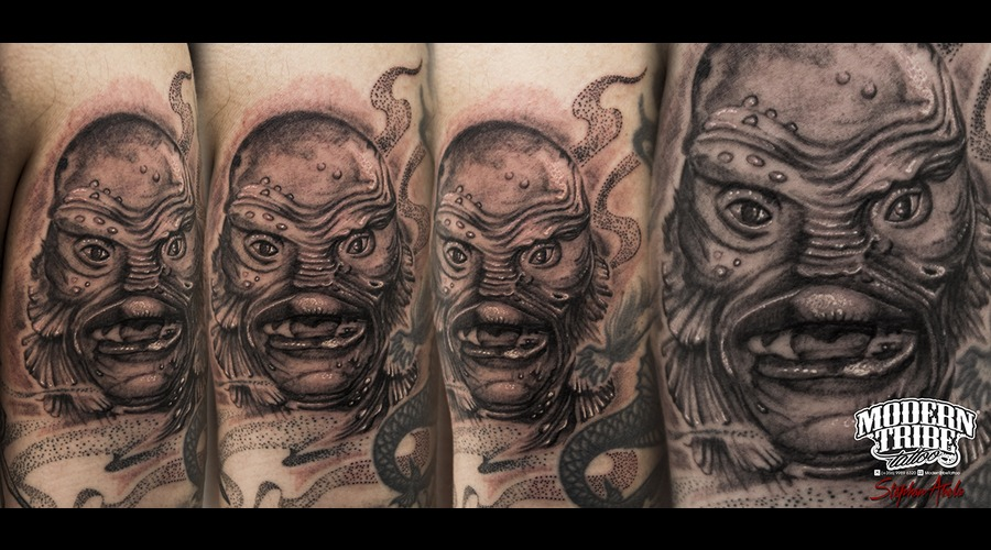 Creature From The Black Lagoon  Movie Tattoo  (1954) Arm