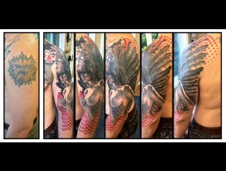 Sleeve  Cover Up  Angel  Trash Polka  Woman  Nude Arm