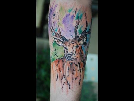 Scottish Deer Watercolour Forearm