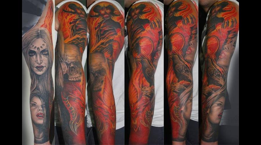 Horror Colour Devil Arm