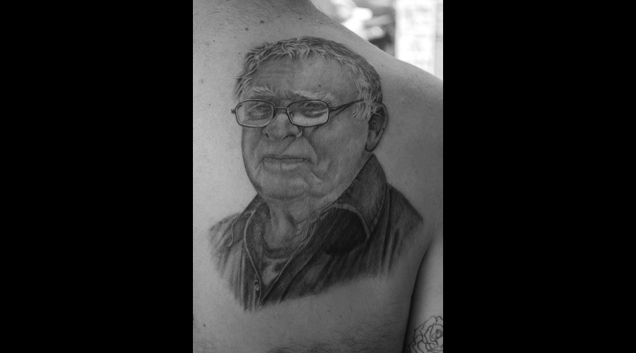 Portrait Realistic Black And Grey Back