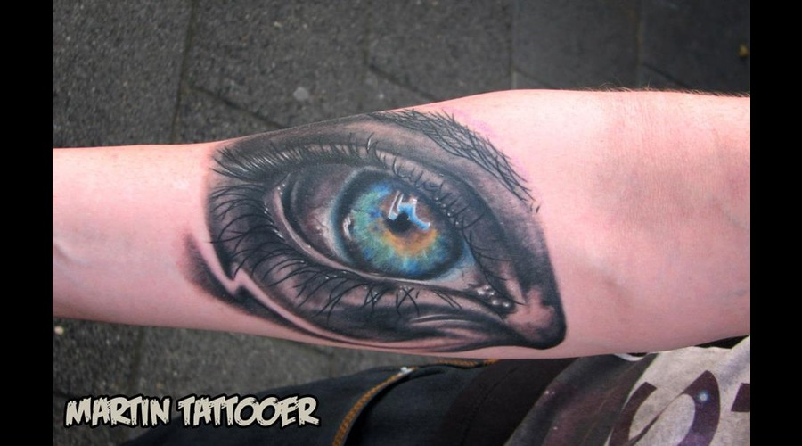 Eye  Tattoo  Realistic  Realism  Color  Arm