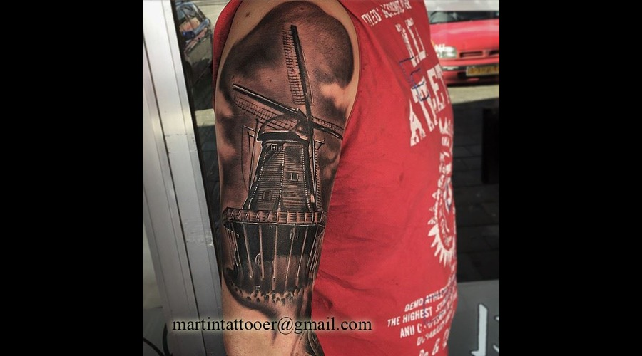 Windmill  Dutch  Realistic  Realism   Arm