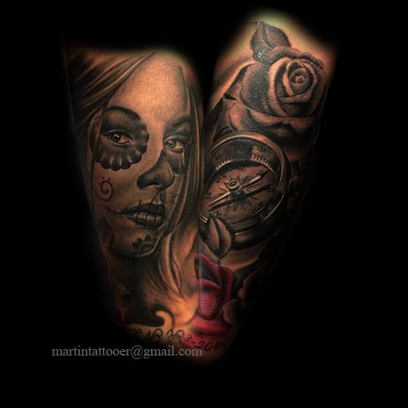 Catrina And Rose Tattoo: Certified Artist