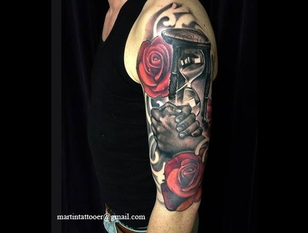 Sleeve  Arm  Realistic  Ornaments  Realism  Black And Grey  Hourglass  Hand Arm