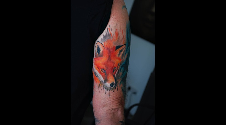 Fox Colour Watercolour Arm