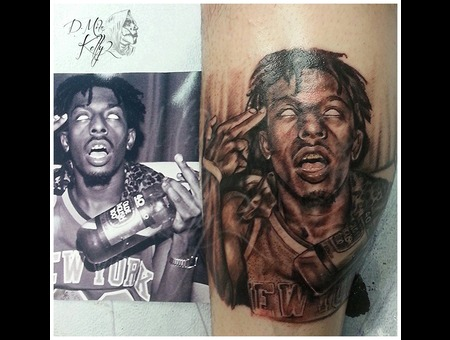 Meech Flatbush Zombies Portrait Realism Pittsburgh Lower Leg