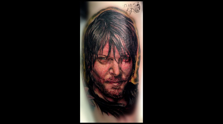 Walking Dead  Daryl Dixon  Norman Reedus Portrait Realism Pittsburgh Lower Leg