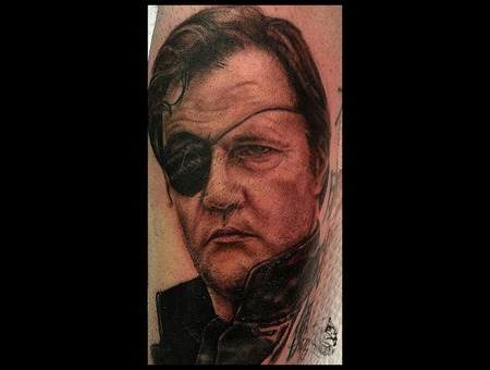 The Walking Dead  The Governor Portrait Realism Pittsburgh Forearm