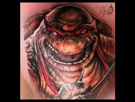 Teenage Mutant Ninja Turtles Color Raphael Realism Pittsburgh Chest