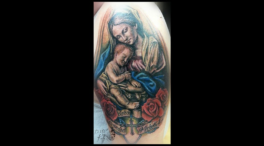 Virgin Mary  Color  Oil Painting Pittsburgh Arm