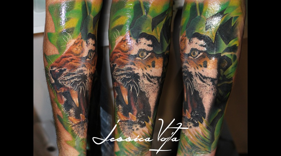 Tiger  Angry  Jungle  Nature Forearm