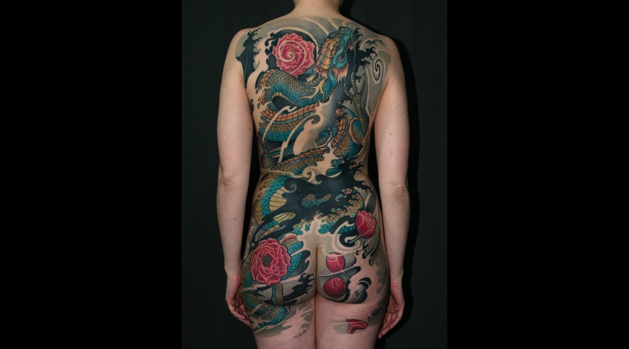 Asia  Japanese  Oriental  Irezumi  Horimono  Cover Up  Dragon  Ryu  Custom Back