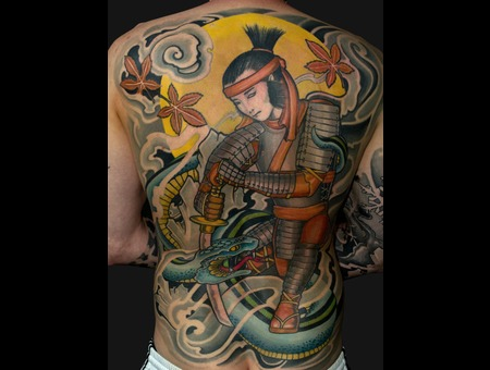 Asia  Oriental  Japanese  Suikoden  Ronin  Snake  Hebi  Custom Back