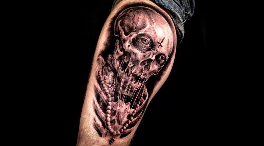 Skull  Skeleton  Priest   Freehand Lower Leg