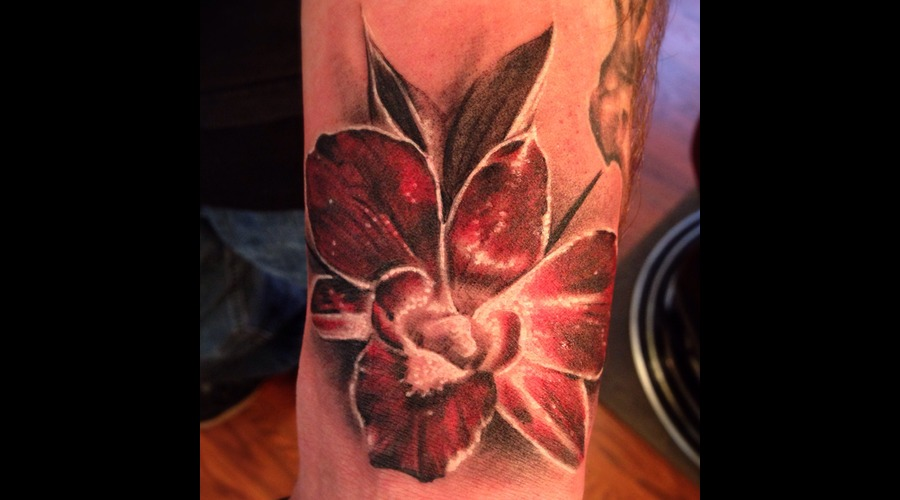 Orchid  Flower  Freehand Forearm