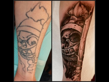 Repair  Coverup  Skull  Skeleton  Knight Forearm