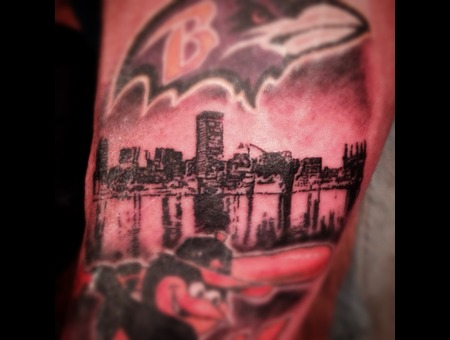 Baltimore  Skyline  Mini  Micro  Small Forearm