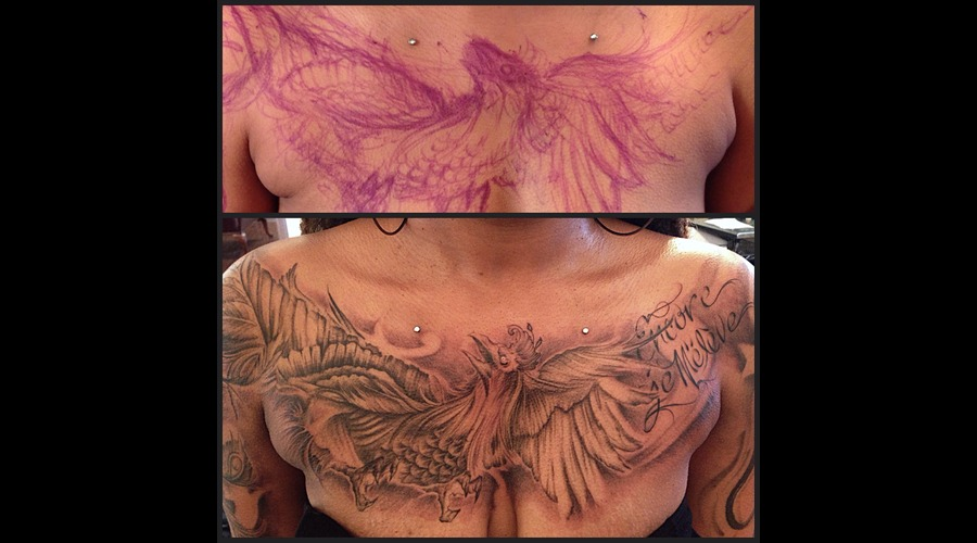 Phoenix  Freehand Chest