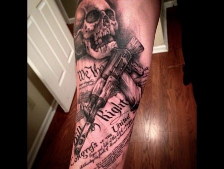 Skull  Ak47  Constitution  2nd Amendment  Gun