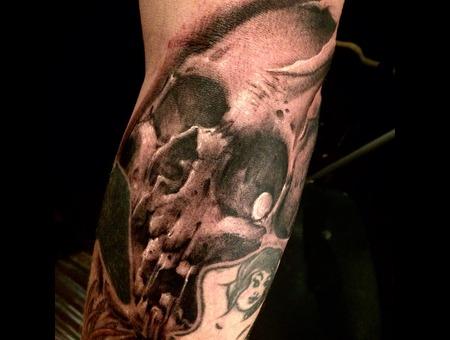 Skull  Bio  Freehand Forearm