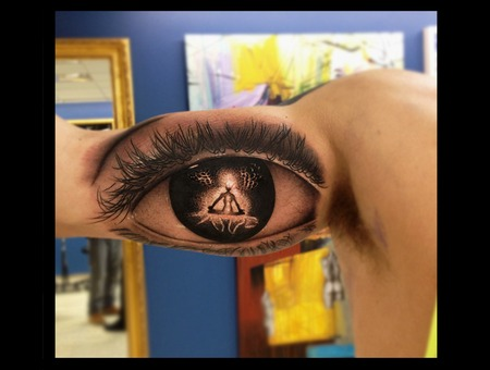 Eye Meditation Tattoo Arm
