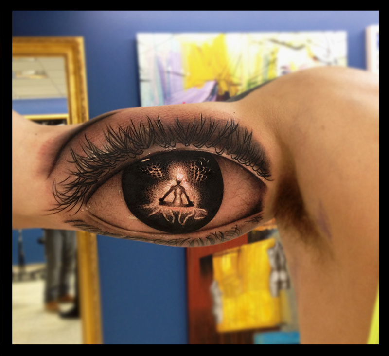 Browse worlds largest tattoo image gallery trueartists eye meditation tattoo arm thecheapjerseys Choice Image