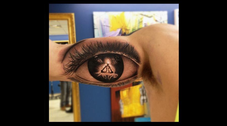 Eye Meditation Tattoo Arm