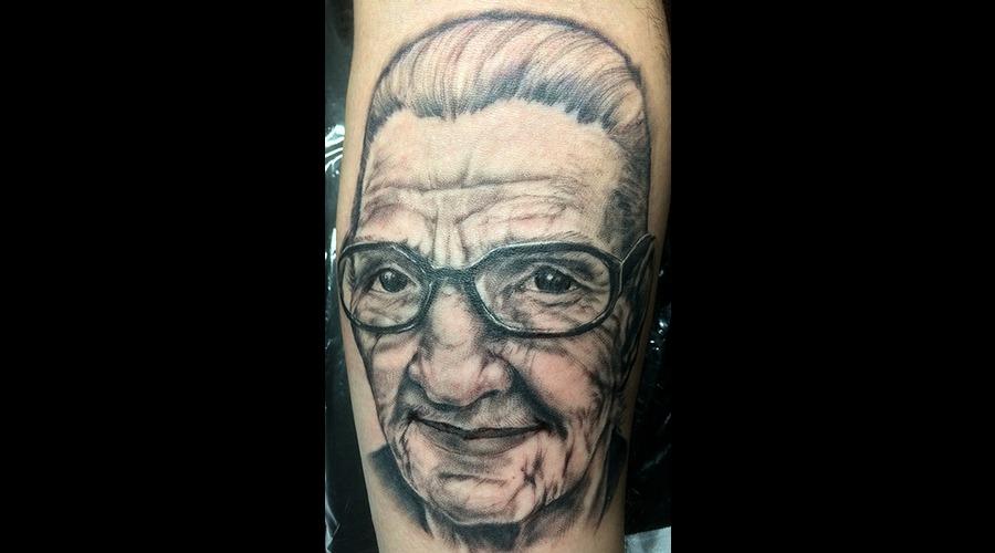 Grandma Black Grey Forearm