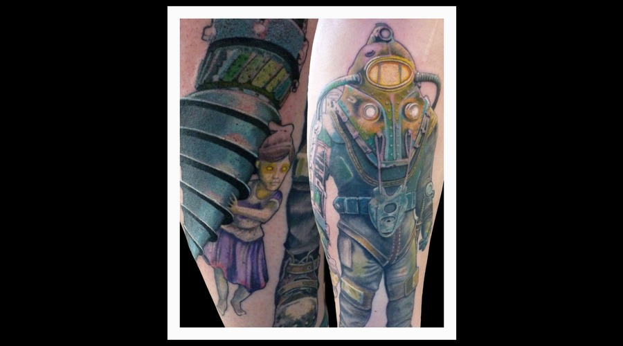 Bioshock  Photo Color Lower Leg