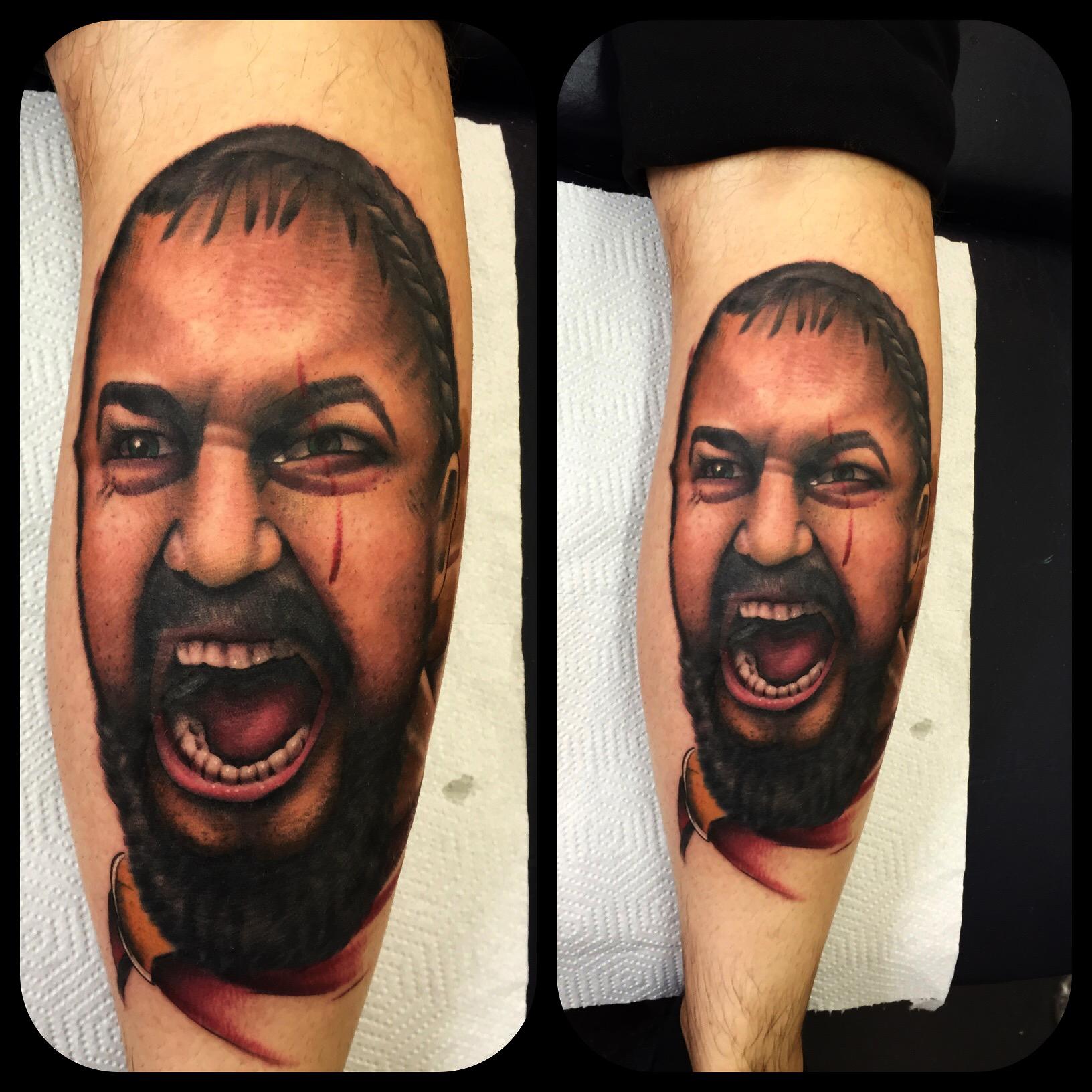 spartan tattoo face