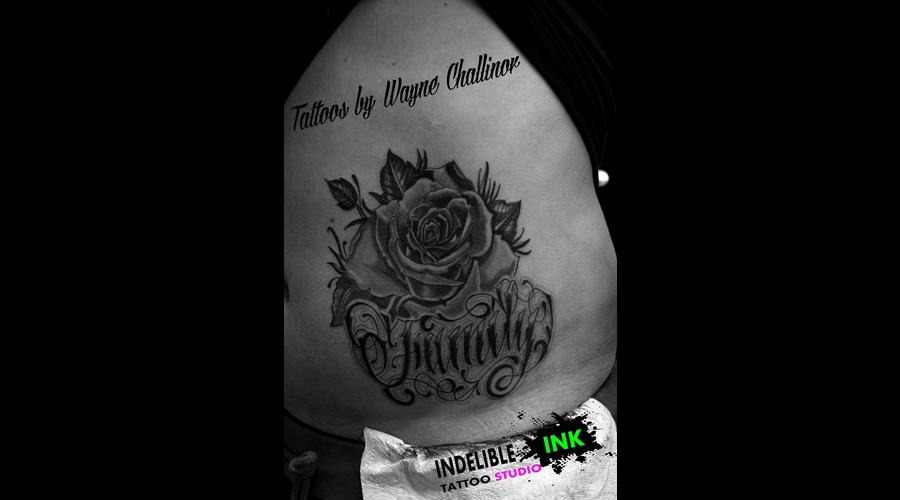 Rose And (Family) Lettering Hip