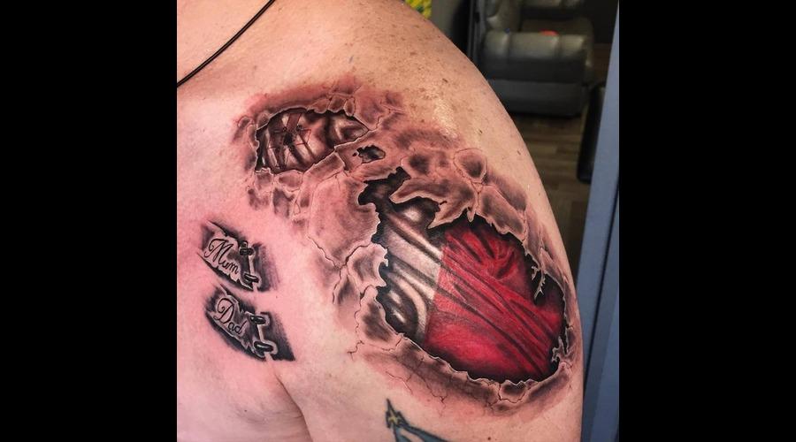 Malta Tattoo . Bio Tattoo Shoulder