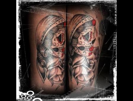 Mexican Skull Forearm