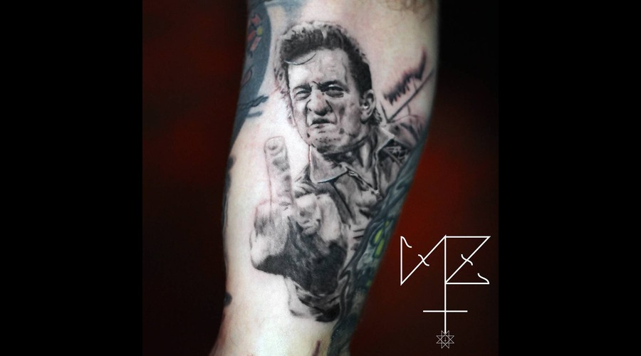 Johnny Cash Black Grey Arm