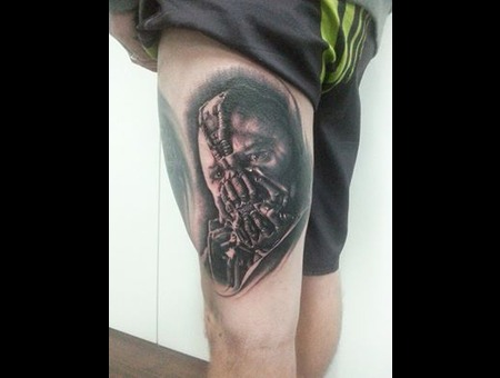 Black And Grey  Bane  Batman Thigh