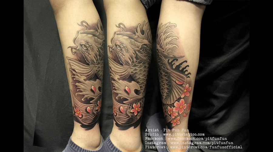 Koi Fish Lower Leg