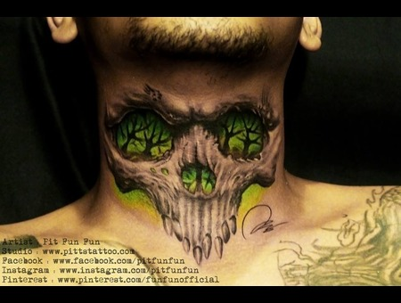 Custom Skull Neck