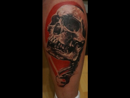 Tattoo  Realism  Skull Color Foot