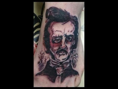 Poe  Edgar Allen  Black  Drawn  Foot Foot