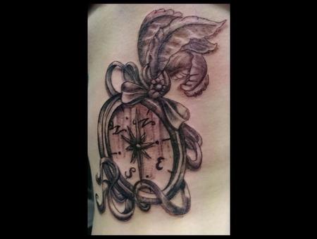 Ribs  Compass  Feathers  Black  Shading Ribs