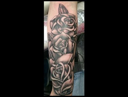 Rose  Women  Sleeve  Black  Shading Forearm
