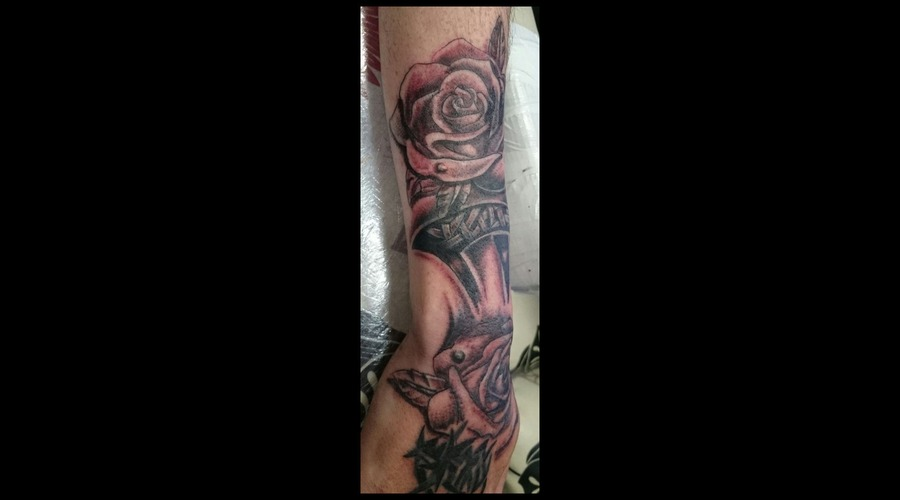Celtic  Rose  Tribal  Cover Up Forearm